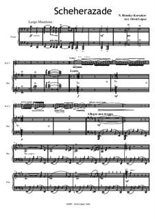 Scheherazade, Op.35: For clarinet in B and piano by Nikolai Rimsky-Korsakov