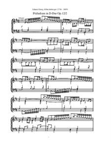 Präludium in D-Dur, Op.12 No.2: Präludium in D-Dur by Johann Georg Albrechtsberger