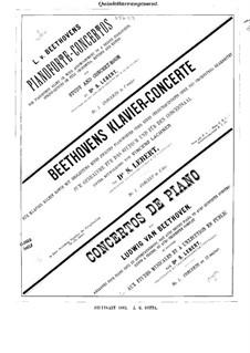 Konzert for Klavier und Orchester Nr.1, Op.15: Version für Strecher – Stimmen by Ludwig van Beethoven