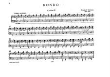 Rondo für zwei Klaviere, achthändig: Klavierstimme II by Bedřich Smetana