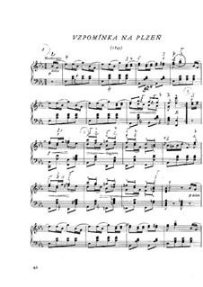 Erinnerung an Pilsen, B.37 T.38: Für Klavier by Bedřich Smetana