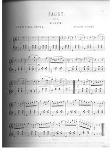 Faust: Ausgewählte Melodien, für Klavier by Charles Gounod
