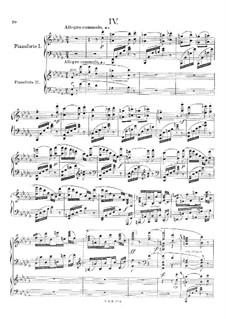 Klavierkonzert Nr.1 in b-Moll, Op.1: Teil IV, für zwei Klaviere, vierhändig by Wilhelm Stenhammar