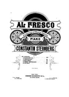 Al fresco, Op.22: Nr.4 Mazurka by Constantin Sternberg
