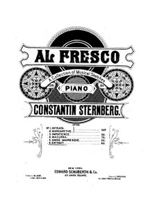 Al fresco, Op.22: No.6 Entr'act by Constantin Sternberg