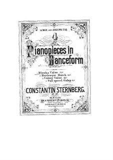 Four Pianopieces in Danceform, Op.27: Nr.1 Blanka. Walzer by Constantin Sternberg