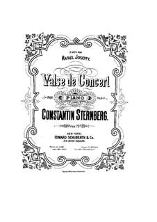 Konzertwalzer: Konzertwalzer by Constantin Sternberg