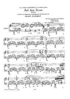 Auf dem Strom, D.943 Op.119: Bearbeitung für Klavier by Franz Schubert
