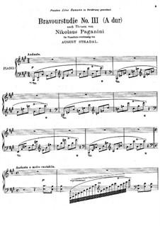 Bravourstudien nach Capricen von Paganini: Studie Nr.3 by August Stradal