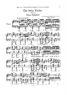 Nr.17 Die böse Farbe: Klavierauszug by Franz Schubert