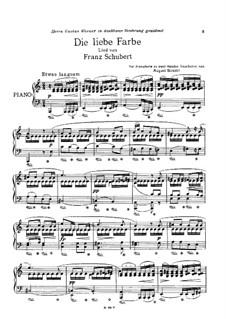 Nr.16 Die liebe Farbe: Klavierauszug by Franz Schubert