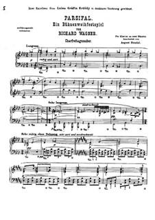 Karfreitagszauber: Für Klavier by Richard Wagner