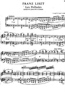Symphonische Dichtung Nr.3 'Les préludes', für Klavier, S.511a: Für einen Interpreten by Franz Liszt