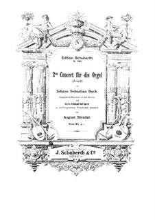 Konzert für Orgel und Orchester Nr.2 in a-Moll, BWV 593: Teil I. Bearbeitung für Klavier by Johann Sebastian Bach
