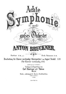 Sinfonie Nr.8 in c-Moll, WAB 108: Teil I. Bearbeitung für Klavier by Anton Bruckner