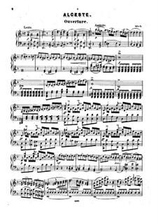 Alceste, Wq.44: Ouvertüre, für Klavier by Christoph Willibald Gluck