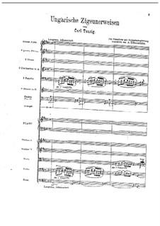 Ungarische Zigeunerweisen: Für Klavier und Orchester by Carl Tausig