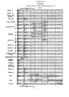 Hamlet. Ouvertüre-Fantasie, TH 53 Op.67: Partitur by Pjotr Tschaikowski