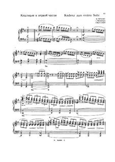 Kadenzen zum Klavierkonzert Nr.4 in G-Dur von Beethoven: Für einen Interpreten by Johannes Brahms