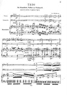 Sinfonie Nr.2, Op.36: Version Klaviertrio by Ludwig van Beethoven