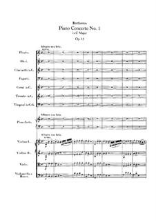 Konzert for Klavier und Orchester Nr.1, Op.15: Vollpartitur by Ludwig van Beethoven