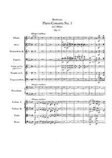 Konzert für Klavier und Orchester Nr.3, Op.37: Vollpartitur by Ludwig van Beethoven