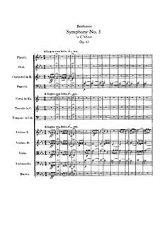 Vollständiger Sinfonie: Vollpartitur by Ludwig van Beethoven