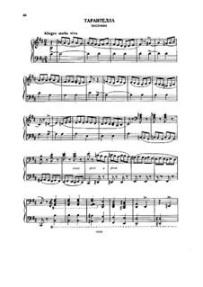 Tarantella für Klavier, vierhändig: Tarantella für Klavier, vierhändig by Alexander Porfiryevich Borodin