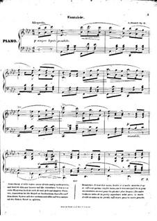 Fantasie As-dur, op.16: Fantasie by Adolf von Henselt