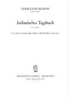 Indianisches Tagebuch, BV 267: Buch I by Ferruccio Busoni