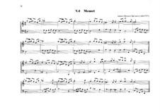 Menuett für Orgel in d-Moll: Menuett für Orgel in d-Moll by Johann Heinrich Buttstett