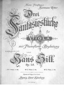 Drei Fantasiestucke für Viola und Klavier, Op.58: Stück Nr.2 by Hans Sitt