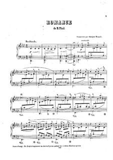 Transkription der Romanze von R.Thal, Op.27: Transkription der Romanze von R.Thal by Adolf von Henselt