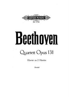 Streichquartett Nr.14 in cis-Moll, Op.131: Version für Klavier by Ludwig van Beethoven