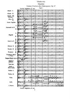Hamlet. Ouvertüre-Fantasie, TH 53 Op.67: Teil I by Pjotr Tschaikowski