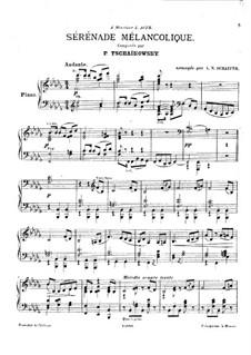Melancholische Serenade, TH 56 Op.26: Für Klavier by Pjotr Tschaikowski