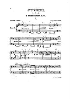 Teile I-II: Bearbeitung für zwei Klaviere – Klavierstimme II by Pjotr Tschaikowski