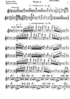 Vollständiger Teile: Flötenstimme I by Pjotr Tschaikowski