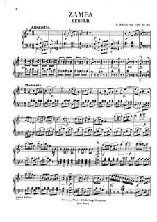 Zampa, ou La fiancée de marbre: Fragment, für Klavier by Ferdinand Herold