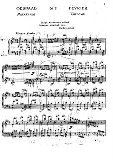 Nr.2 Februar (Karneval): Für Klavier by Pjotr Tschaikowski