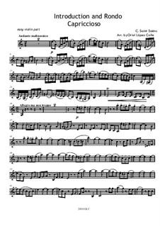 Introduktion und Rondo Capriccioso, Op.28: Für Violine und Klavier – Solo Stimme by Camille Saint-Saëns