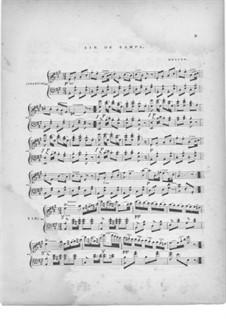 Zampa, ou La fiancée de marbre: Air de Zampa, for piano by Ferdinand Herold