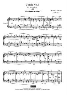 Choral in f major for organ, CS097 No.1: Choral in f major for organ by Santino Cara