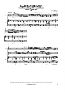 Lamentatio, Op.15: Secunda by Klaus Miehling