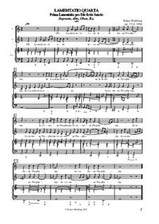 Lamentatio, Op.15: Quarta by Klaus Miehling