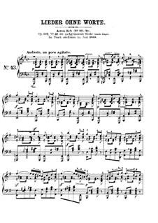 Lieder ohne Worte, Op.102: Nr.1 Andante un poco agitato by Felix Mendelssohn-Bartholdy
