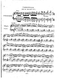 Trois airs de ballets from 'La Muette de Portici' by Auber, Op.5: No.3 Tarantelle by Henri Herz