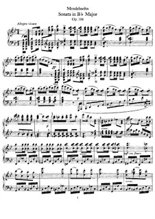 Sonate für Klavier Nr.3 in B-Dur, Op.106: Teil I by Felix Mendelssohn-Bartholdy