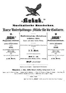 Kukuk. Musikalische Rundschau: Vollständiger Satz by Johann Kaspar Mertz