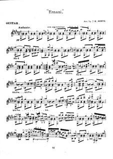 Ernani: Ausgewählte Melodien, für Gitarre by Giuseppe Verdi